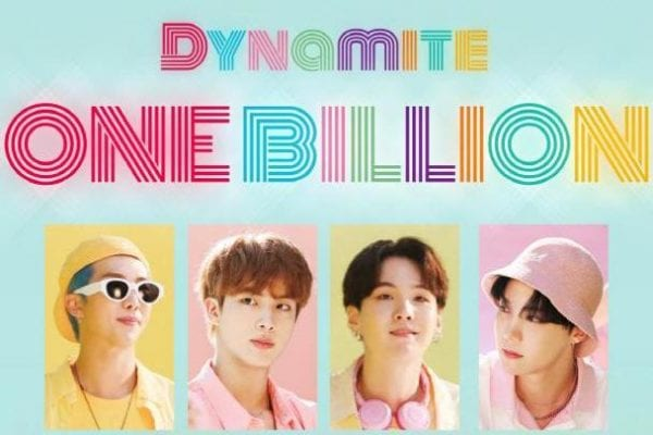 BTS 'Dynamite' MV Reaches 1 Billion Views on YouTube